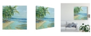 "Trademark Global Suzanne Wilkins Blue Coastal Lagoon Canvas Art - 15"" x 20"""