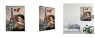 """Trademark Global Sandy Lloyd Femme Paris IV Canvas Art - 20"""" x 25"""""""