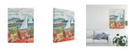 "Trademark Global Karen Fields Two Sailboats and Cottage II Canvas Art - 15"" x 20"""