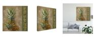"""Trademark Global Jade Reynolds Pineapple Welcome II Canvas Art - 20"""" x 25"""""""