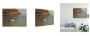 "Trademark Global Marilyn Wendling Harbored Dories I Canvas Art - 15"" x 20"""