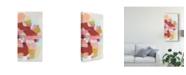 "Trademark Global June Erica Vess Color Cartography III Canvas Art - 20"" x 25"""