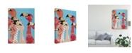 "Trademark Global Jennifer Rutledge Flock of Flamingoes I Canvas Art - 20"" x 25"""