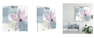 "Trademark Global Jennifer Goldberger Ua Ch Blush Flower Splash VI Canvas Art - 15"" x 20"""