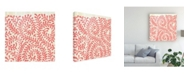 """Trademark Global June Erica Vess Weathered Patterns in Red III Canvas Art - 15"""" x 20"""""""
