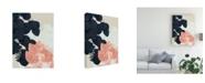"Trademark Global Jennifer Goldberger Indigo and Blush Leaves III Canvas Art - 20"" x 25"""