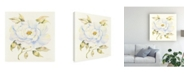 "Trademark Global Kathleen Parr Mckenna Peony in White Canvas Art - 15"" x 20"""
