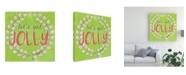 "Trademark Global June Erica Vess Lets Get Jolly I Canvas Art - 15"" x 20"""