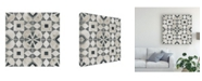 "Trademark Global June Erica Vess Neutral Tile Collection V Canvas Art - 15"" x 20"""