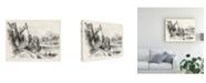 "Trademark Global J.D. Harding Idyllic Landscape II Canvas Art - 15"" x 20"""