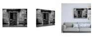 "Trademark Global Omer Ates Kiziltug Leaning on the Balcony Canvas Art - 19.5"" x 26"""