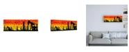 "Trademark Global Roderick Stevens Oklahoma Silhouette Canvas Art - 27"" x 33.5"""