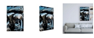 "Trademark Global Roderick Stevens Sunset & Motorcycle Canvas Art - 36.5"" x 48"""