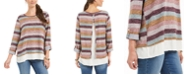 Style & Co Striped Layered-Look Sweater, Created for Macy's