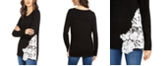 INC International Concepts INC Lace-Hem Sweater, Created for Macy's