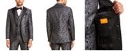 Tallia Men's Charcoal Black Floral Dinner Jacket