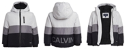 Calvin Klein Toddler Boys Hooded Colorblocked Utility Jacket
