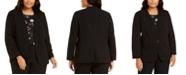 Nine West Plus Size Collarless One-Button Blazer