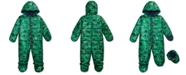 First Impressions Baby Boys Hooded Dinosaur-Print Footed Bunting Snowsuit, Created for Macy's