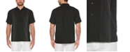 Cubavera Men's Big & Tall Textured Stripe Shirt