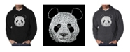 LA Pop Art Men's Word Art Hoodie - Panda Head