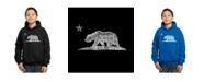 LA Pop Art Boy's Word Art Hoodies - California Bear