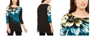 Alfani Layered Crossover-Hem Tunic Top, Created for Macy's