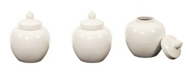 Howard Elliott Iridescent White Round Ceramic Urn