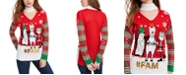 Planet Gold Juniors' Embellished Holiday Choker Sweater