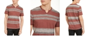 INC International Concepts INC Men's Stripe Split-Neck T-Shirt, Created for Macy's