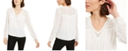 1.STATE 1. State Long-Sleeve V-Neck Blouse