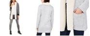 Style & Co Sherpa-Trim Open-Front Cardigan, Created For Macy's