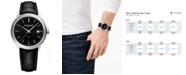 Raymond Weil Men's Swiss Automatic Maestro Black Leather Strap Watch 40mm
