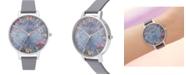 Olivia Burton Women's Under The Sea Blue Polyester Strap Watch 38mm