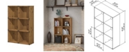 Kathy Ireland Home by Bush Furniture Ironworks 6 Cube Bookcase
