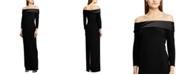Lauren Ralph Lauren Off-the-Shoulder Gown, Created For Macy's