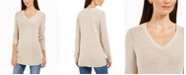 Charter Club Petite Marled V-Neck Sweater, Created For Macy's