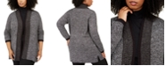 Karen Scott Plus Size Tipped Cardigan Sweater, Created for Macy's