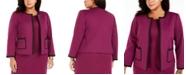 Nine West Plus Size Contrast-Trim Ponte Jacket