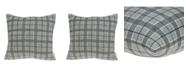 Parkland Collection Qincy Transitional Grey Pillow Cover With Down Insert