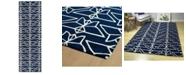 """Kaleen Origami ORG07-22 Navy 2'6"""" x 8' Runner Rug"""