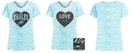 5th & Ocean Big Girls Philadelphia Eagles Heart Flip Sequin T-Shirt