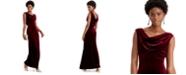 Vince Camuto Velvet Cowlneck Gown