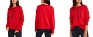 Tommy Hilfiger Crewneck Varsity Sweater, Created For Macy's