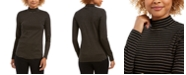 Charter Club Striped Mock-Neck Top, Created For Macy's