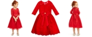Rare Editions Little Girls Lace Bow Dress