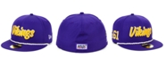 New Era Boys' Minnesota Vikings On-Field Sideline Home 59FIFTY-FITTED Cap