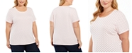 Karen Scott Plus Size Printed Short-Sleeve T-Shirt, Created For Macy's