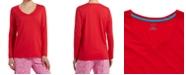 Hue Women's Long-Sleeve Knit Pajama Top