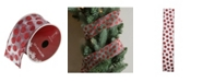 """Northlight Silver and Red Glittering Polka Dots Wired Christmas Craft Ribbon 2.5"""" x 10 Yards"""